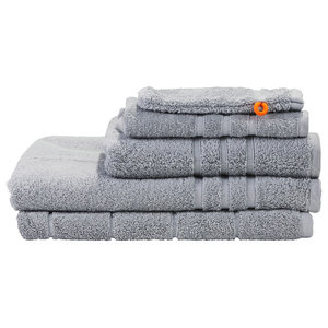Daily Uni Towel Collection, Silver, Set of 5