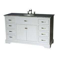 56-inch Contemporary Style Single Sink Bathroom Vanity Model 2422-56 WK