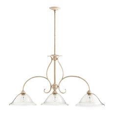 """Quorum 6510-3-170 Spencer Island Lighting 3-Light 13"""", Persian White"""