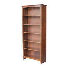 Shaker Adjustable Bookcase in Espresso Finish
