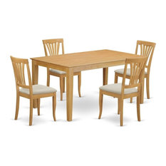 5-Piece Small Kitchen Table Set, Kitchen Table And 4 Dinette Chairs by East West Furniture