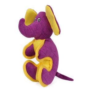 Cartoon Funimal Plush Animal Squeak Chew Tug Dog Toy, Purple