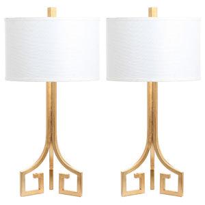 Arabelle Hardback Table Lamp, Set of 2, Gold
