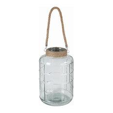 "Privilege Small Glass Lantern, 8""x8""x13"""