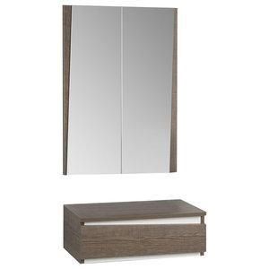 Tundra 2-Piece Console and Mirror Set