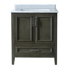 bathroom vanity single sink. 1st Avenue  Adrien Carrara Marble Single Bathroom Vanity Gray 30 Sink Vanities Houzz
