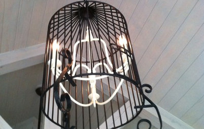 Reinvent It: Salvage a Birdcage for an Eclectic Chandelier