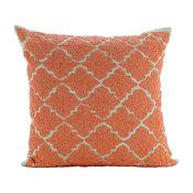 "Orange Medallion, 18""x18"" Cotton Linen Orange Throw Pillows Cover for Couch"
