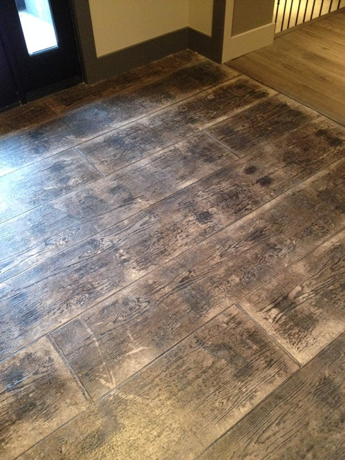 Stamped Concrete Wood Houzz