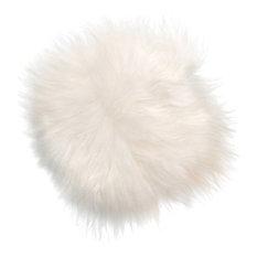 Icelandic Sheepskin Seat Cushion, White