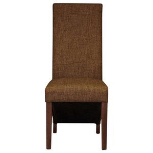 Full Back Hazelnut Upholstered Dining Chairs, Set of 2