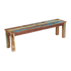 vidaXL Solid Reclaimed Wood Bench Dining Seats Home Furniture Entrance Hall