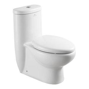 Fresca Delphinus One-Piece Dual Flush Toilet With Soft Close Seat