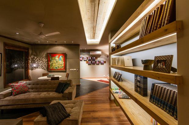 Contemporary Living Room by Chromed Design Studio