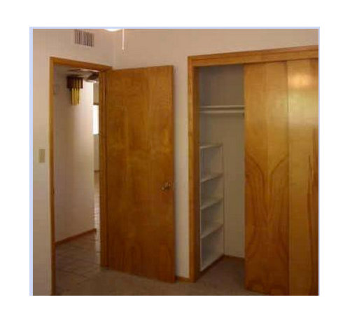 Painting Wood Trim White Before And After: Painting Dated Closet Doors?