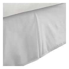 Becky Cameron Premium Ultra Soft Bed Skirt Dust Ruffle, Light Gray, Twin