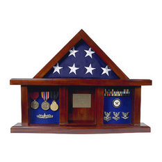 Military Medal Shadow Box with Display Case for 3'x5' Flag