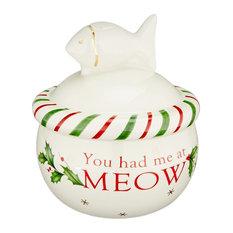 Lenox Holiday Cat Treat Jar
