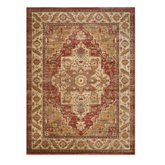 "Delano Persian Area Rug, Brick, 6'7""x9'6"""