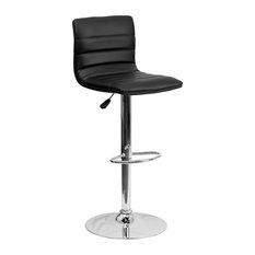 Flash Furniture Contemporary Black Vinyl Adjustable H Bar Stool