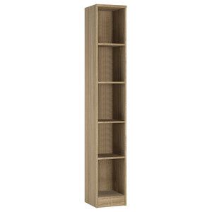 For You Tall Narrow Bookcase, Sonoma Oak