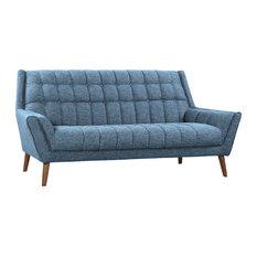 Cobra Modern Sofa Blue Linen
