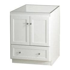 Ronbow Essentials Shaker 24-inch Bathroom Vanity Cabinet Base White