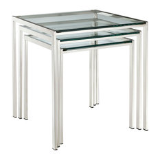 Nimble Stainless Steel Nesting Table, Silver