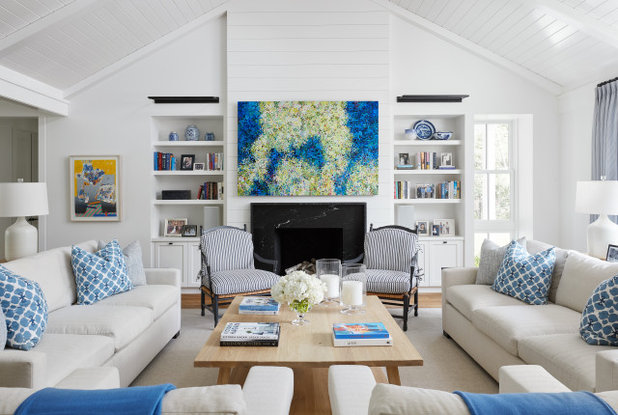 Beach Style Living Room by Konstant Home