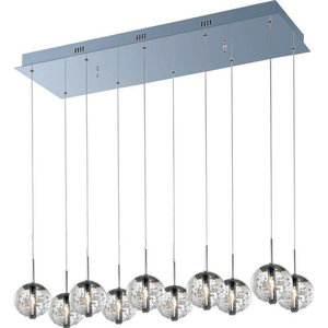 PLC Lighting 6077 PC Pendant from Pila Collection