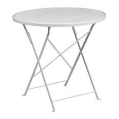 """30"""" Folding Patio Table, White"""