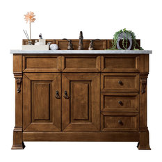 "Brookfield 48"" Country Oak Single Vanity Drawers 2CM Santa Cecilia Granite"