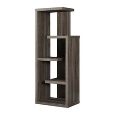 Monarch Specialties I 2467 Bookcase 48-inchH/Dark Taupe Accent Display Unit