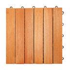 Hardwood Outdoor Patio Deck Tile 6 Slat, Box of 10