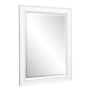 """Napa 28"""" Wall Mirror, White"""