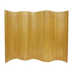6' Tall Bamboo Wave Screen, Natural