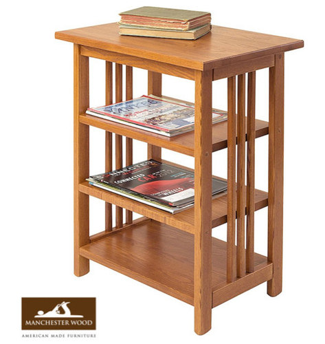 Mission 3 Shelf End Table By Manchester Wood   Side Tables And End Tables