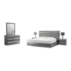 Furniture Import U0026 Export Inc.   Leon Gray Modern 5 Piece Bedroom Set,
