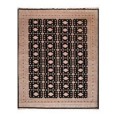 """Black Rose Color Persian Rug, 9'4""""x11'7"""""""