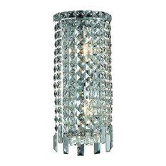 Elegant Lighting Maxime 2-Light Wall Sconce, Elegant Cut