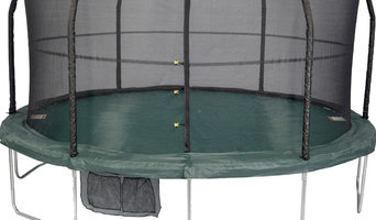 Green and Black Trampoline