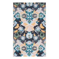 Fiona Hand-Tufted Area Rug, Multicolor, Navy, 6'x9'