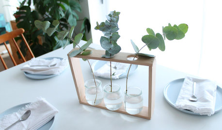 DIY : Un triple soliflore pour un centre de table scandinave