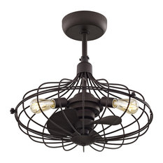 50 most popular industrial ceiling fans for 2018 houzz fifth and main lighting havana 3 light ceiling fan aged bronze ceiling aloadofball Choice Image