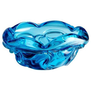 Inverted Thistle Glass Berry Bowl - 4 Color Options
