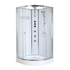 Opus Quadrant Shower Cabin, White, 1000x1000 mm