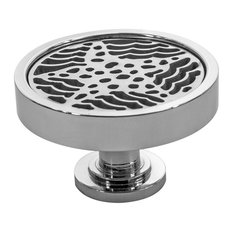 Starfish Cabinet Knob, Made in the USA, Polished Stainless Steel