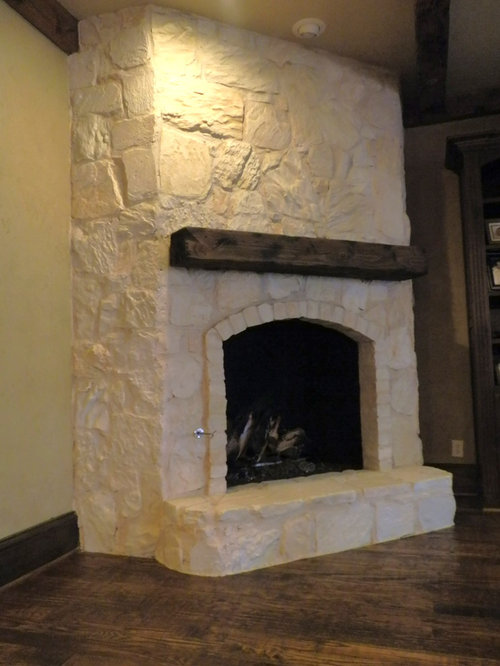 Austin Stone Fireplace Houzz