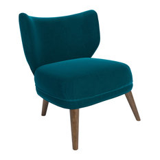 MOD   Merle Accent Chair, Lagoon Blue Velvet   Armchairs And Accent Chairs
