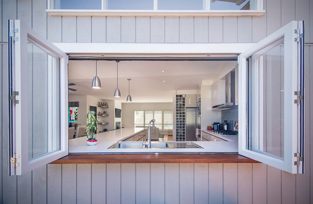 Beach Style Kitchen By Sketch Building Design